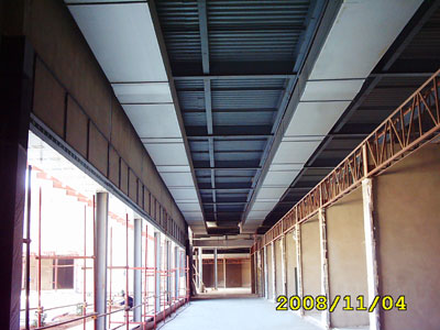Implementation of air duct network in Trans Mall - Homs